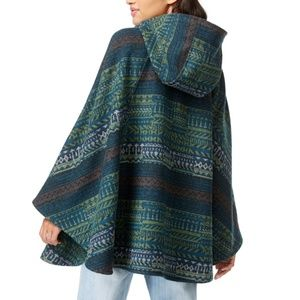 Hooded Poncho Cape Boho Unique